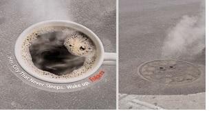 Ceștile de cafea în campanie de gherilă