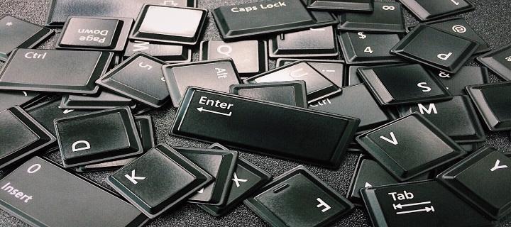 literele de la tastatură