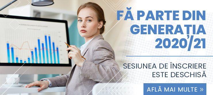 FĂ PARTE DIN GENERAȚIA 2020/21