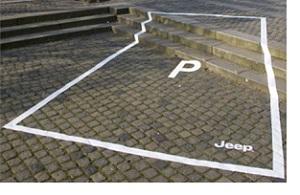 Reclamă în campanie gherilă pentru Jeep