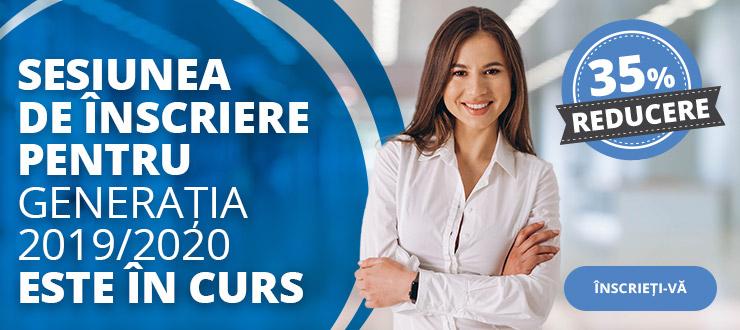 Sesiunea de înscriere pentru generația 2019/2020 la BusinessAcademy este în curs